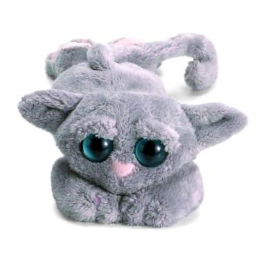 Chat gris en peluche aux gros yeux tradition jouet - Jeux de toutou a gros yeux ...