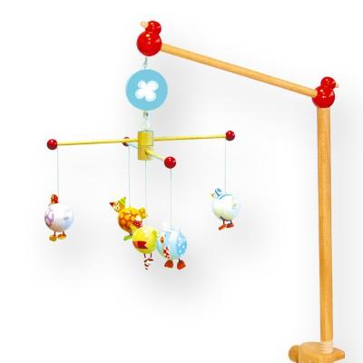 mobile musical en bois complet oiseaux ronds tradition jouet. Black Bedroom Furniture Sets. Home Design Ideas